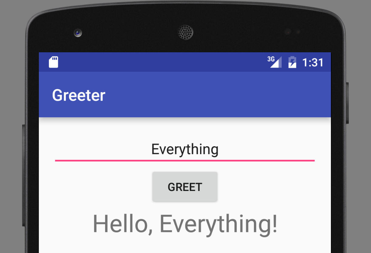 The `Greeter` app we will create