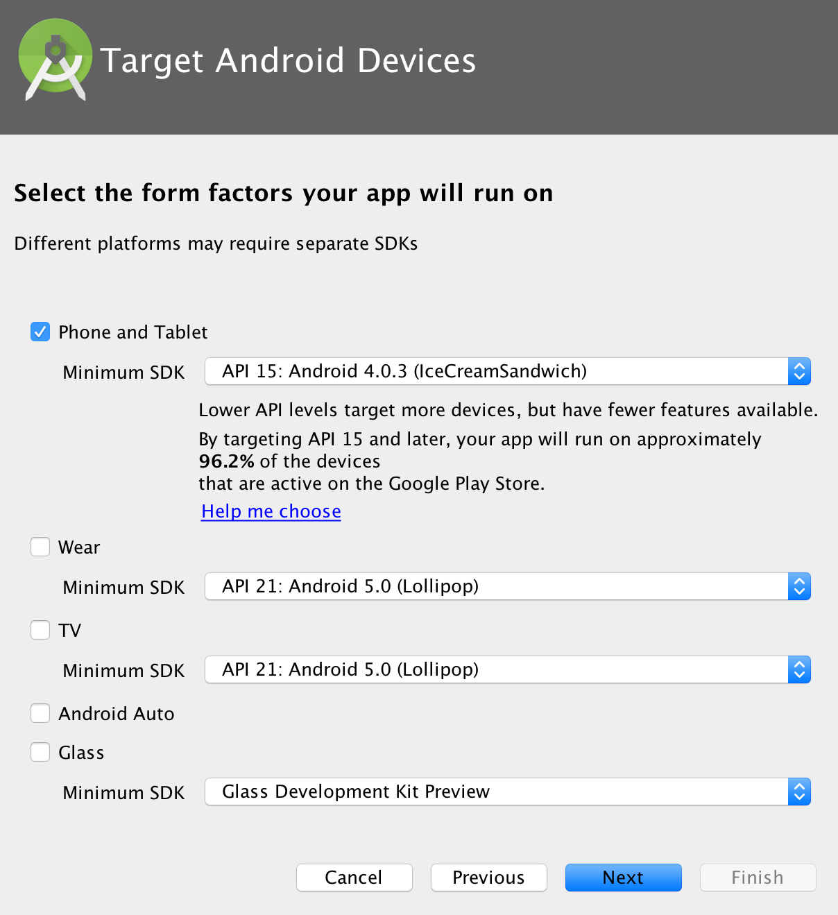 Target android devices