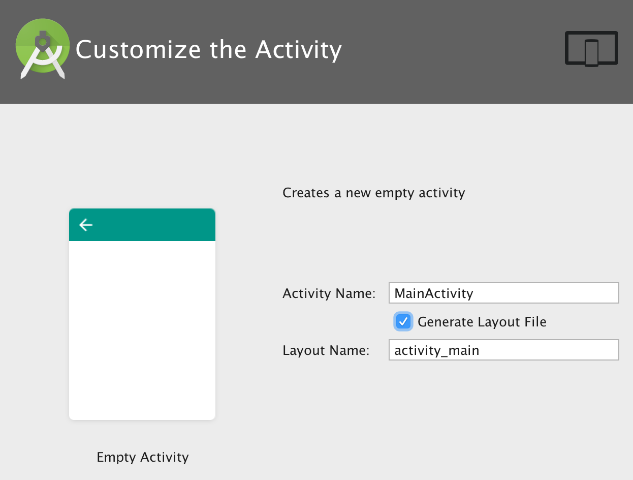 Set activity name and title