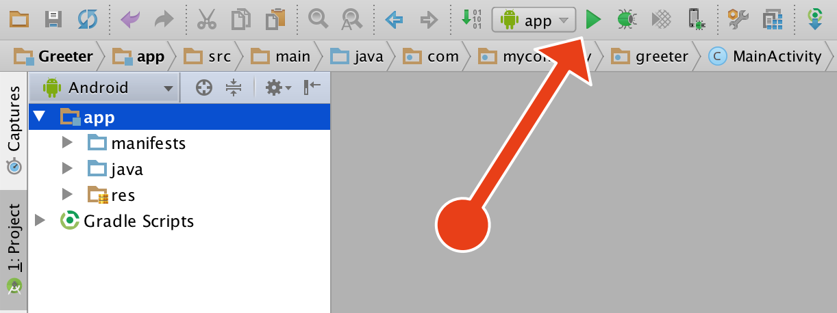 Run the app in Android Studio