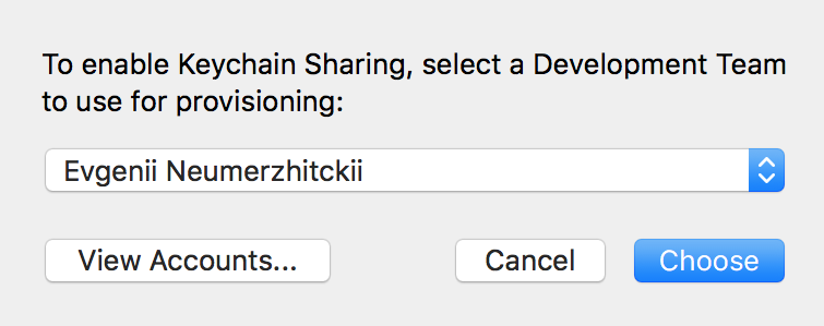 How to share Keychain between iOS apps