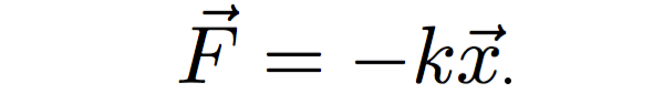 Harmonic oscillator equation: F=-kx