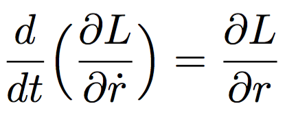The Euler–Lagrange equation one.