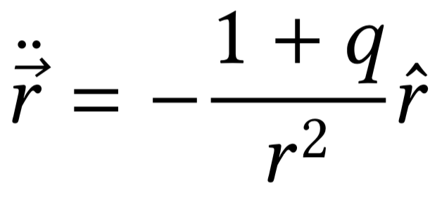 The equation of motion of two bodies