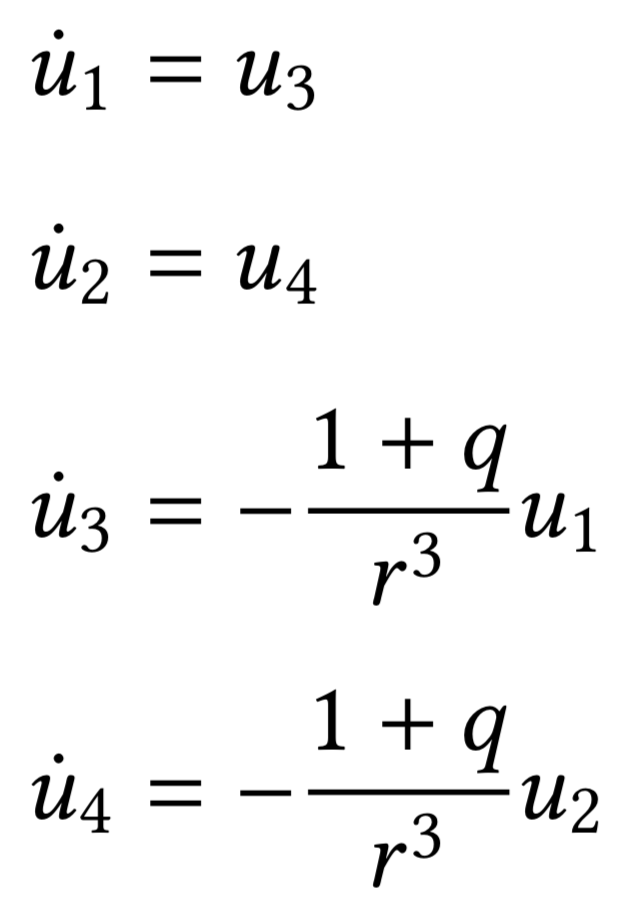 System of first-order differential equations